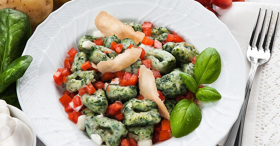 Ricetta Gnocchi Spinaci Con.Gnocchetti Di Spinaci Alla Sorrentina Educazione Nutrizionale Grana Padano